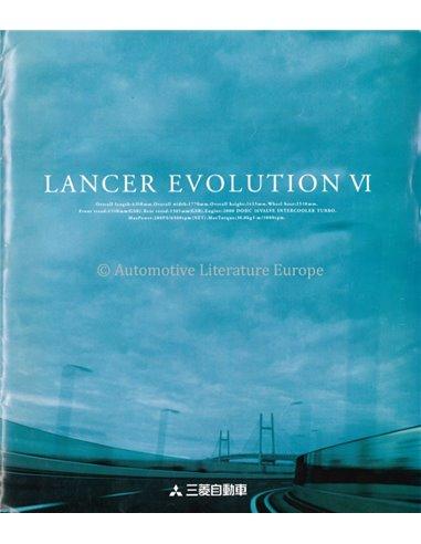 1998 MITSUBISHI LANCER EVOLUTION VI BROCHURE JAPANESE