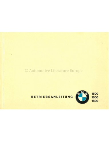 1964 BMW 1500 / 1600 / 1800 OWNERS...