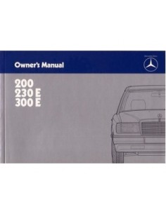 1985 MERCEDES BENZ E CLASS OWNERS MANUAL HANDBOOK ENGLISH