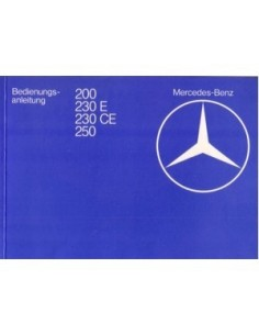 1982 MERCEDES BENZ E CLASS OWNERS MANUAL HANDBOOK GERMAN