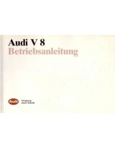 1988 AUDI V8 OWNERS MANUAL HANDBOOK GERMAN