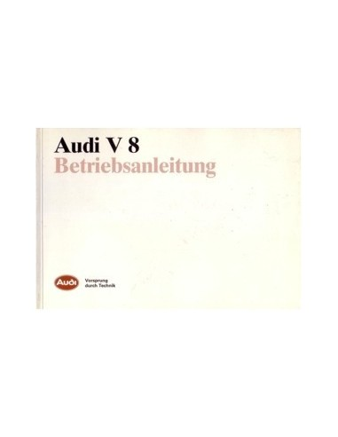 1988 AUDI V8 INSTRUCTIEBOEKJE DUITS