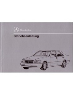 1993 MERCEDES BENZ S CLASS OWNERS MANUAL HANDBOOK GERMAN