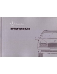 1992 MERCEDES BENZ S CLASS OWNERS MANUAL HANDBOOK GERMAN