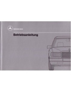 1989 MERCEDES BENZ E CLASS DIESEL OWNERS MANUAL HANDBOOK GERMAN