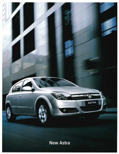 2004 HOLDEN ASTRA BROCHURE ENGLISH