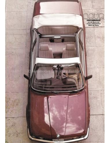 1983 BMW 3 SERIES BAUR TOPCABRIOLET BROCHURE GERMAN