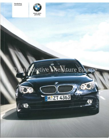2009 BMW 5 SERIES OWNER'S MANUAL DUTCH