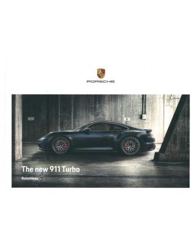2021 PORSCHE 911 TURBO S HARDBACK BROCHURE ENGLISH