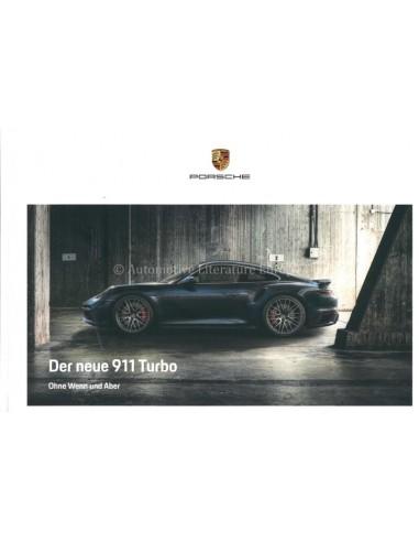 2021 PORSCHE 911 TURBO S HARDBACK BROCHURE GERMAN