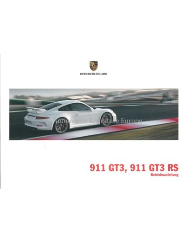 2015 PORSCHE 911 GT3 RS OWNERS MANUAL GERMAN