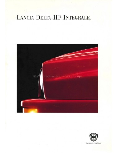 1993 LANCIA DELTA HF INTEGRALE BROCHURE GERMAN
