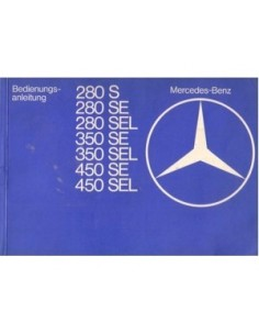 1978 MERCEDES BENZ S CLASS OWNERS MANUAL HANDBOOK GERMAN