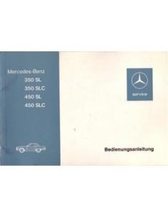 1973 MERCEDES BENZ SL & SLC CLASS OWNERS MANUAL HANDBOOK GERMAN