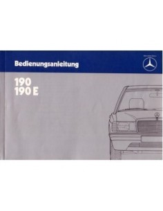 1983 MERCEDES BENZ 190 OWNERS MANUAL HANDBOOK GERMAN