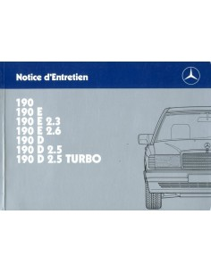 1988 MERCEDES BENZ 190 OWNER'S MANUAL FRENCH
