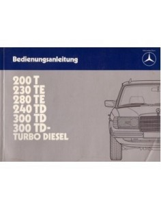 1983 MERCEDES BENZ E CLASS T OWNERS MANUAL HANDBOOK GERMAN