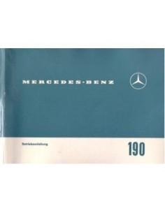 1963 MERCEDES BENZ 190 C OWNERS MANUAL HANDBOOK GERMAN