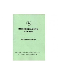 1958 MERCEDES BENZ 190 INSTRUCTIEBOEKJE DUITS