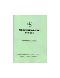 1958 MERCEDES BENZ 190 OWNERS MANUAL HANDBOOK GERMAN