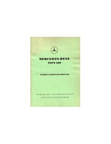 1956 MERCEDES BENZ 190 INSTRUCTIEBOEKJE SPAANS