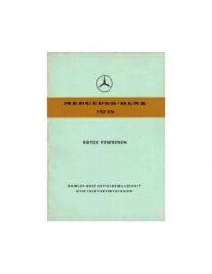 1960 MERCEDES BENZ 190 DB INSTRUCTIEBOEKJE FRANS