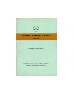 1960 MERCEDES BENZ 190 DB OWNERS MANUAL HANDBOOK FRENCH