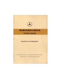 1957 MERCEDES BENZ 180 D INSTRUCTIEBOEKJE FRANS