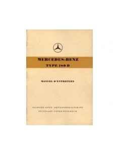 1957 MERCEDES BENZ 180 D OWNERS MANUAL HANDBOOK FRENCH