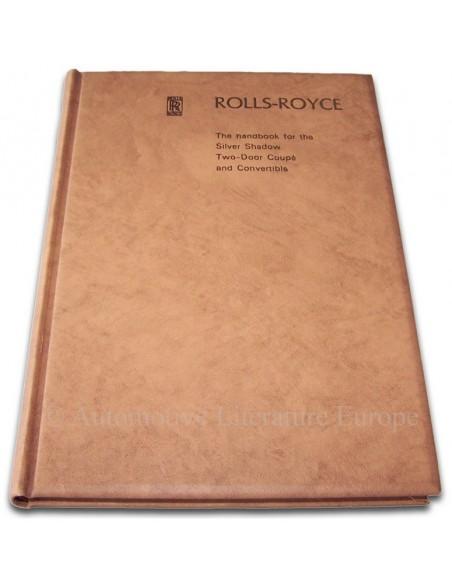 1970 ROLLS ROYCE SILVER SHADOW INSTRUCTIEBOEKJE ENGELS