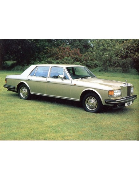 1980 ROLLS ROYCE SILVER SPIRIT INSTRUCTIEBOEKJE ENGELS