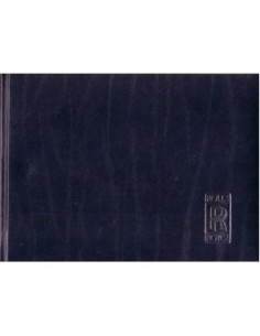1993 ROLLS ROYCE SILVER SPIRIT III INSTRUCTIEBOEKJE ENGELS