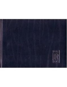 1993 ROLLS ROYCE SILVER SPIRIT III OWNERS MANUAL ENGLISH