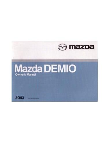 2000 MAZDA DEMIO INSTRUCTIEBOEKJE ENGELS