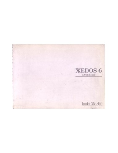 1997 MAZDA XEDOS 6 INSTRUCTIEBOEKJE NEDERLANDS