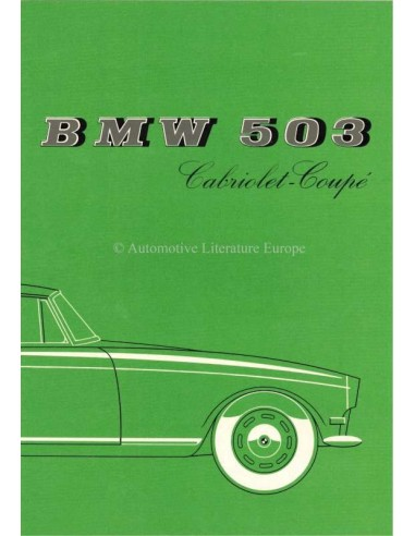 1958 BMW 503 CABRIOLET - COUPE BROCHURE FRENCH