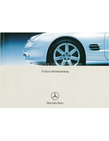 2003 MERCEDES BENZ SL CLASS OWNERS MANUAL GERMAN