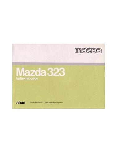 1992 MAZDA 323 INSTRUCTIEBOEKJE NEDERLANDS
