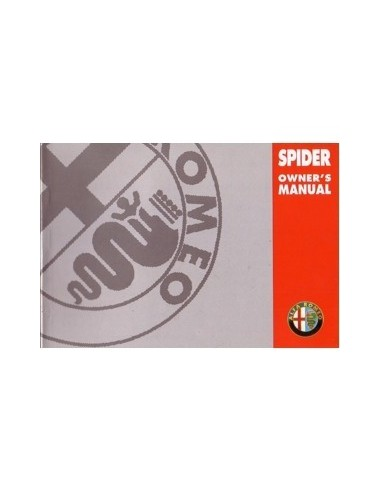 1998 ALFA ROMEO SPIDER INSTRUCTIEBOEKJE ENGELS