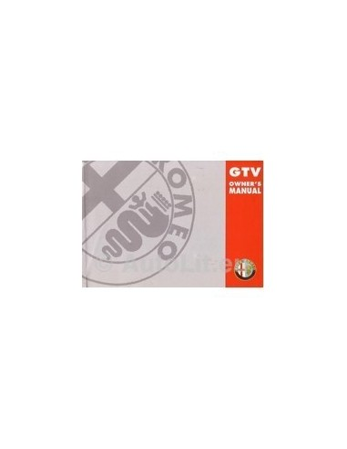 1998 ALFA ROMEO GTV INSTRUCTIEBOEKJE ENGELS