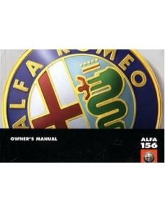 2000 ALFA ROMEO 156 OWNERS MANUAL ENGLISH