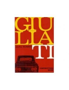 1964 ALFA ROMEO GIULIA 1600 TI INSTRUCTIEBOEKJE ENGELS