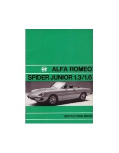 1972 ALFA ROMEO SPIDER 1300 1600 JUNIOR INSTRUCTIEBOEKJE ENGELS