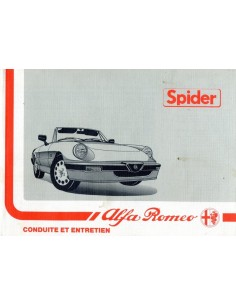 1988 ALFA ROMEO SPIDER OWNERS MANUAL FRENCH