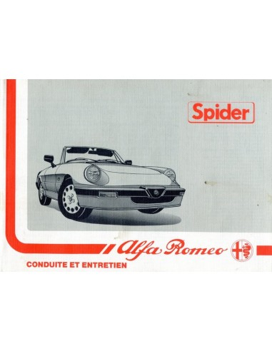 1988 ALFA ROMEO SPIDER INSTRUCTIEBOEKJE FRANS