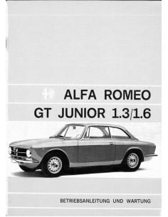 1973 ALFA ROMEO GT JUNIOR 1.3 / 1.6 OWNER'S MANUAL GERMAN