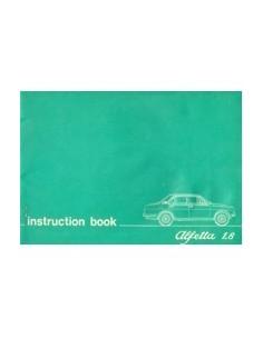 1975 ALFA ROMEO ALFETTA 1.8 INSTRUCTIEBOEKJE ENGELS
