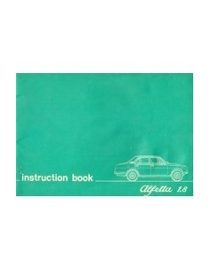 1975 ALFA ROMEO ALFETTA 1.8 OWNERS MANUAL HANDBOOK ENGLISH