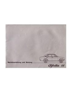 1976 ALFA ROMEO ALFETTA 1.6 OWNER'S MANUAL GERMAN