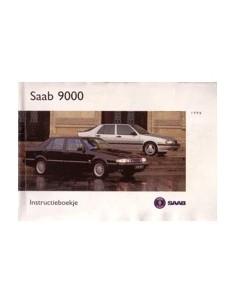 1996 SAAB 9000 OWNERS MANUAL HANDBOOK DUTCH